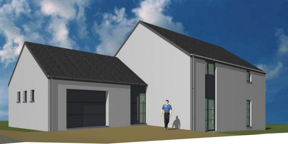 Maison en ossature bois salvacourt projet maison for Projet maison